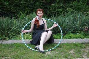 kelly in a hoop