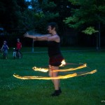 fire hooping with Jennifer Wilson