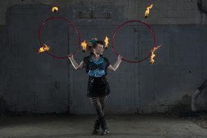 lucy loop double fire hoops