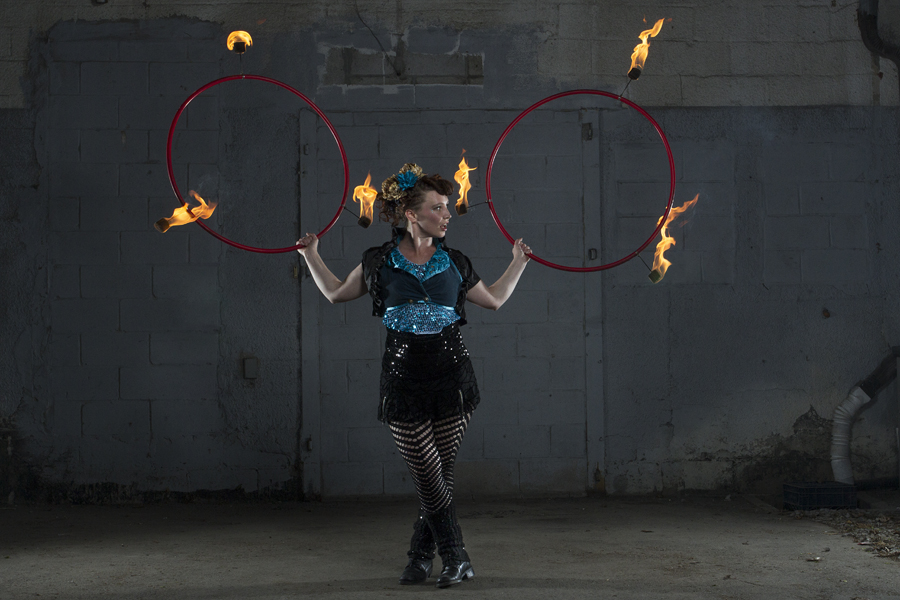 lucy loop double fire hoops
