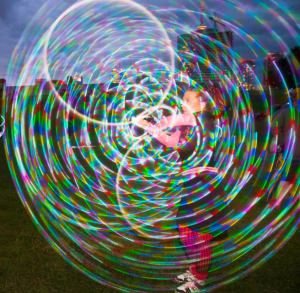 colleen costello doubles LED hoops festival