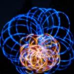 glow poi time lapse flower