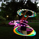 jenn with multiple glow hoops