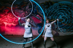 LED hoop glow dancers