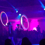 led glow hoop duo dancing