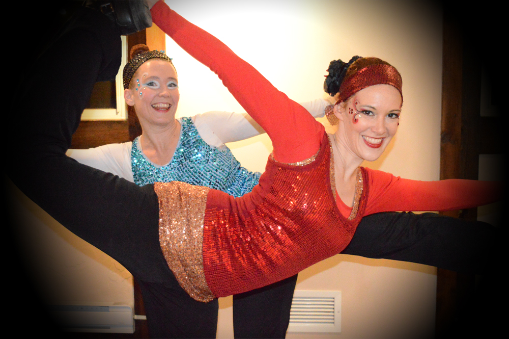 Scarlet Black and Colleen Jean Fire and Ice glow show