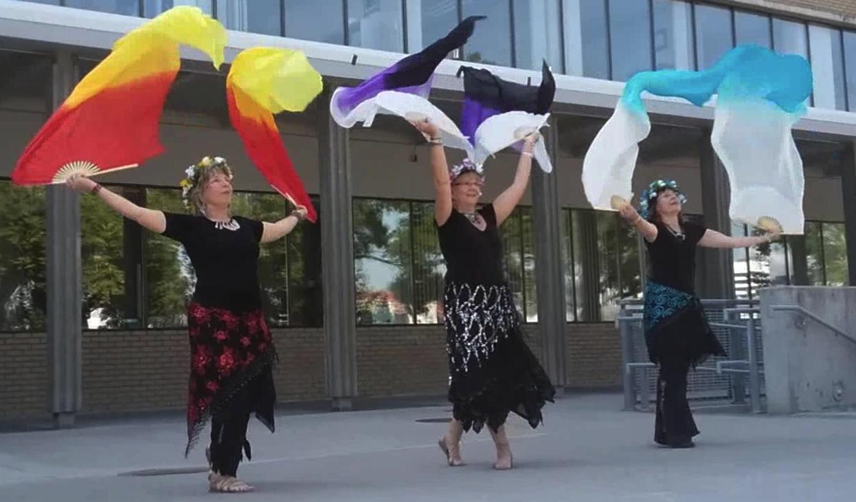 fabric fan dancers