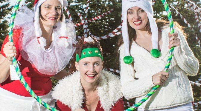 hoop performers christmas elves