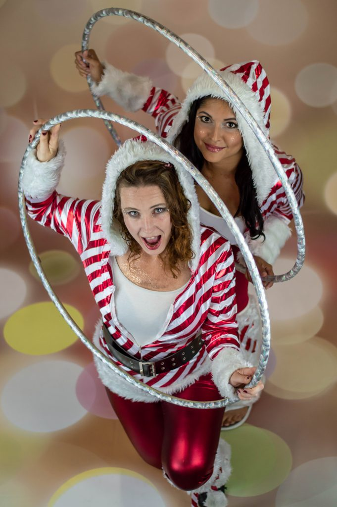 hula hoop candy cane girls